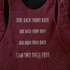 The first step of the Highland Fling hand printed on the back of an American Apparel ti-blend racerback tank. Scottish Highland Dance, Scottish Highlands, Dance Pictures, Dance Pics, Dance Stuff, Pole Dancing Fitness, Dance Shirts, Dance Quotes, Ballet Girls