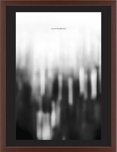 Black and White Bokeh Framed Print, Brown, Contemporary, Black, Black, Single piece, 24 x 36 inches