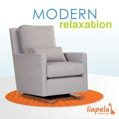 Modern Como Glider: furniture for your contemporary nursery! Like on Instagram @LiapelaModernBaby
