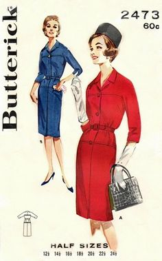 Butterick 2473 Lunch at the Ritz Dress 1960's