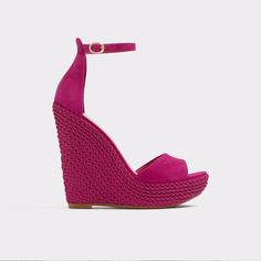 Aldo Shoes - Laysa: Tell me you want me in these sexy nubuck wedges complete with ankle strap and peeptoe. Dance the night away or even wear to work.