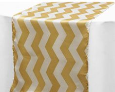 15 gold chevron table runners  FREE SHIPPING by BigDayBridals, https://www.etsy.com/listing/188162617/15-gold-chevron-table-runners-free