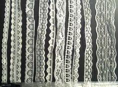 20m of Asstd White Vintage Lace Bridal Wedding Trim Ribbon, Craft, Card Making Craftbuddy US