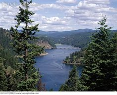 Lake Coeur D'Alene, Idaho...one of the prettiest places in the west...driving from Spokane to Missoula, you round a bend and the lake/mountain view takes your breath away...