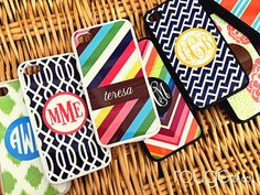 Monogrammed iPhone covers