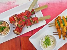 Grilled Fruit Skewers for Your 4th of July Get-Together>> www.hgtv.com/holidays-and-entertaining/grilled-fruit-skewers-recipe/index.html?soc=pinterest