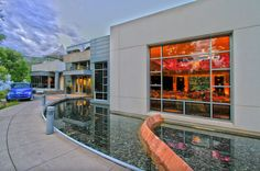 Summer evening party hosted in the Doerr-Hosier Center at the Aspen Meadows Resort