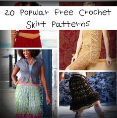 20 Popular Free #Crochet Skirt Patterns for Women