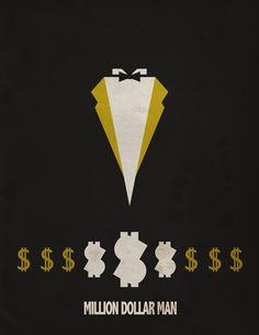 wwe/wwf wrestling graphic design work by dan howard | million dollar man ted dibiase