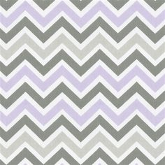 Lilac and Slate Gray Chevron Fabric by Carousel Designs. Grey Chevron Curtains, Grey Chevron Nursery, Grey Crib, Chevron Fabric, Gray Chevron, Mini Crib Bedding, Chevron Table Runners, Suzani Fabric, Cushion Cover Designs