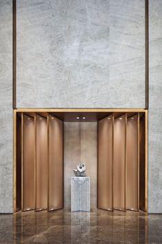 Most Popular Ideas For Lobby Wall Design Architecture Interior Design Portfolios, Room Interior Design, Interior Decorating, Feature Wall Design, Wall Panel Design, Dental Office Design, Modern Office Design, Modern Offices, Healthcare Design