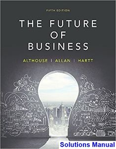 Solutions Manual for Future of Business Canadian 5th Edition by Althouse IBSN 9780176570255