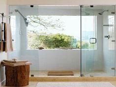 Glass bathroom windows - Master bath