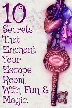 10 Secret Design Ideas To Enchant your Escape Room With Fun & Magic If you're making an escape room at home here's a bunch of ideas that will make it a lot more fu