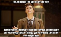 I read it in his voice & accent. If you didn't you need to watch more of David Tennant as The Doctor. Doctor's orders. ;)