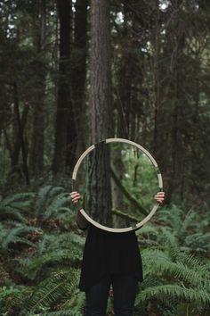 hand bound hemp mirrors grain gessato