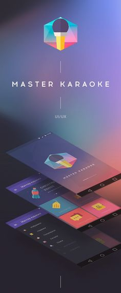 Creative App, Interface, Karaoke, Master, and Android image ideas & inspiration on Designspiration Mobile Web Design, App Ui Design, Interface Design, User Interface, Flat Design, Android App Design, App Design Inspiration, Material Design, Karaoke