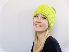 Knit Headband Green Womens Headband Adult by PreciousBowtique