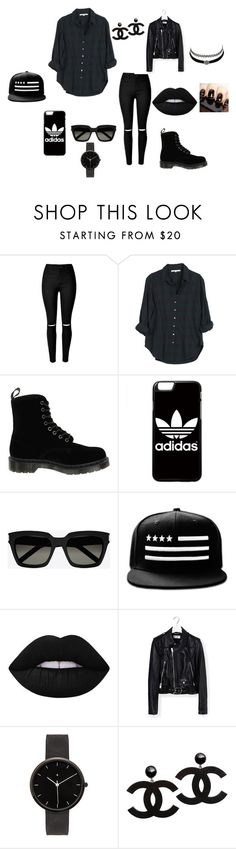 """""""Tinuta de zi"""" by anamaria-44 on Polyvore featuring Xirena, Dr. Martens, adidas, Yves Saint Laurent, Lime Crime, I Love Ugly and Charlotte Russe"""