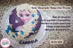 Sweet Cucas and Cupcakes by Rosângela Rolim: Bolo Decorado Tema Elsa Frozen