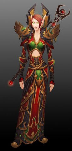 Red Sunwell Cloth Set