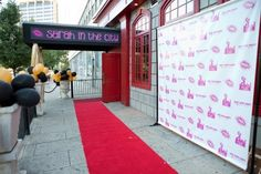 """This """"Sarah in the City"""" entrance was great for a New York themed Bat Mitzvah. 