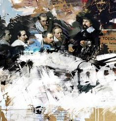 """Saatchi Art Artist Serj Fedulov; Painting, """"On the base of the great masters.Rembrandt. 2   """" #art"""