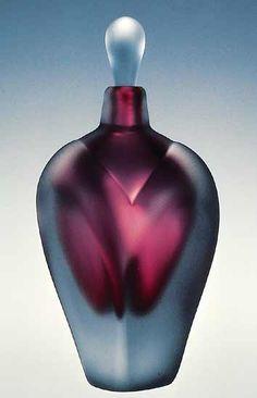 "Art-glass perfume bottle entitled ""Overlay Perfume,"" created by Jonathan Winfisky"