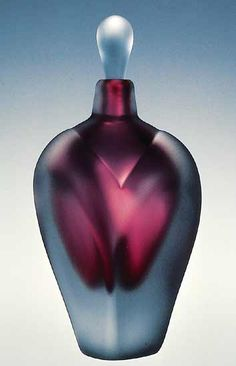 "Art-glass perfume bottle entitled ""Overlay Perfume,"" created by Jonathan Winfisky"