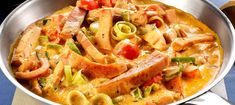 Swedish Recipes, Sausage Recipes, Easy Cooking, Pasta Salad, Thai Red Curry, Vegetarian Recipes, Good Food, Meat, Dining