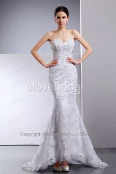 Intriguing Petite Design Lace Sweetheart Mermaid Hottest Wedding