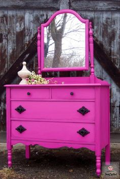 Dresser remodeled (DIY project!) I want this dresser, minus the pink!