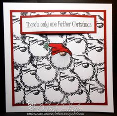 Debs Bat Cave: There's only one Father Christmas Father Christmas, Christmas Cards, Xmas, Gnomes, Rooster, Santa, Bonfire Night, Swedish House, Handmade