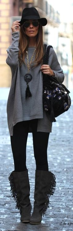 Grey High And Low Structured Oversized Sweater by Like A Princess Like.... Kuka