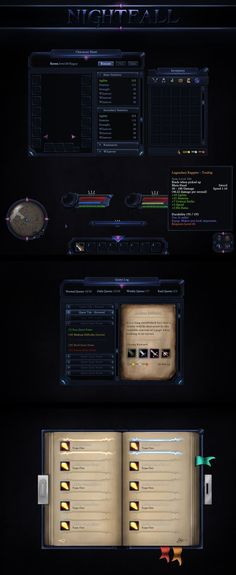 Nightfall GUI by VengeanceMK1 on DeviantArt: