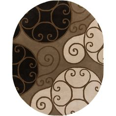 Hand-tufted Caithness Transitional Geometric Brindle Wool Rug (6' x 9' Oval)
