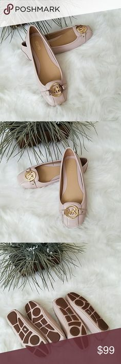 Michael Kors Flats NWOT Beautiful light pink/blush Michael Kors Flats brand new without tag. No damages. Light mark in front of the size 8 pair. Very comfortable. Upper leather. Rubber outer sole. Pictures are taken to the best of my abilities so please ask questions prior to purchase. Thank you. Michael Kors Shoes