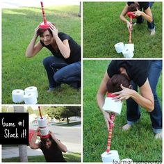 Stack It Toilet Paper / Plunger Game