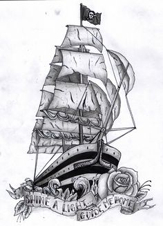 I love pirate ship tattoos!