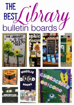 "Stembrarian: The BEST Library Bulletin Boards . Love the ""i forgot the title but it's blue"" School Library Displays, Middle School Libraries, Elementary School Library, School Library Decor, Elementary Library Decorations, School Library Lessons, Library Lesson Plans, Public Libraries, Classroom Themes"
