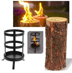 A proper Swedish log fire set up