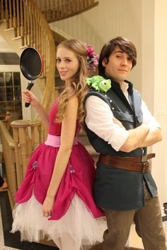 What Elaine would wear for Halloween if she could ever find a boy who'd love her (humor her) enough to be the male! HA! Rapunzel and Flynn Rider!