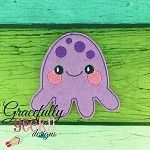 Octopus Feltie ITH Embroidery Design 4x4 hoop (and larger)