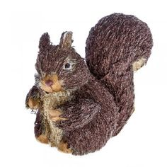 Gisela Graham Christmas Glittery Bristle Squirrel Christmas Decoration