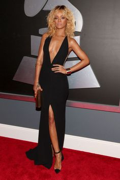 Let's face it: BadGalRiri has had more than her fair share of killer looks this year. However with her perfect hair, sultry-makeup and sexy dress this look she wore to this years's Grammy's that just hit it out of the park.