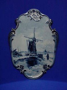 Wall plaque Royal Delft Museum Blue