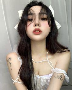 Pretty Korean Girls, Cute Korean, Beautiful Asian Girls, Cute Goth Outfits, Black Brown Hair, Korean Girl Photo, Maid Outfit, Cute Japanese Girl, Ulzzang Korean Girl