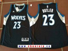 29d4cac12 Men s Minnesota Timberwolves  23 Jimmy Butler Black Stitched NBA adidas  Revolution 30 Swingman Jersey