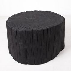 The Hono Stool relies on the ancient Japanese Shou Sugi Ban technique of preserving wood by charring it