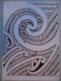 Maori Design Drawing for sale on Trade Me, New Zealand's auction and classifieds website F Tattoo, Ta Moko Tattoo, Samoan Tattoo, Body Art Tattoos, Tribal Tattoos, Maori Tattoos, Maori Tattoo Meanings, Tupac Art, Maori Patterns
